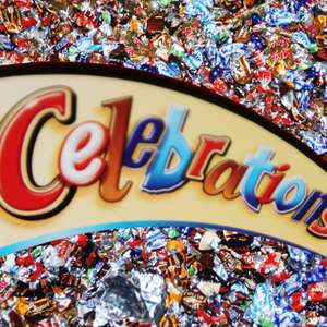 Celebrations Box 1,5 kg (Mars, Snickers, Bounty, Milky Way, Twix, Dove, Dove Caramel und Maltesers)