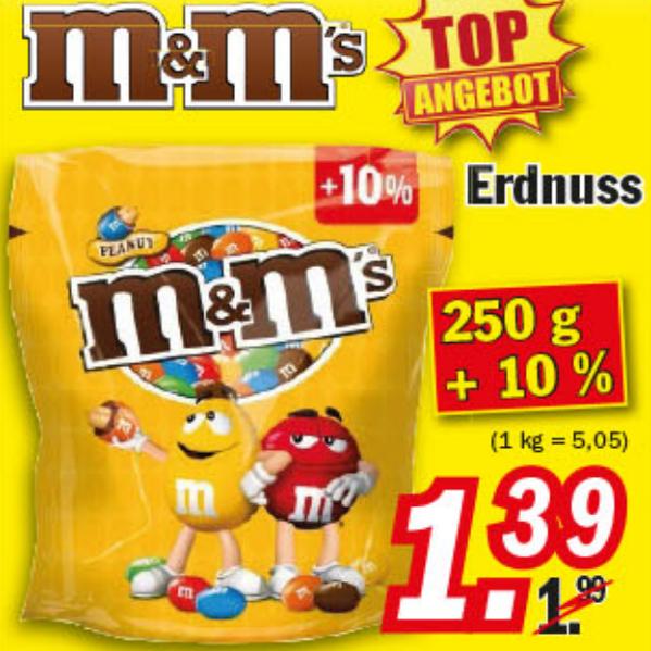 275g M&M's für 1,39€ (5,05€/kg) bei Zimmermann ab 20.02.17