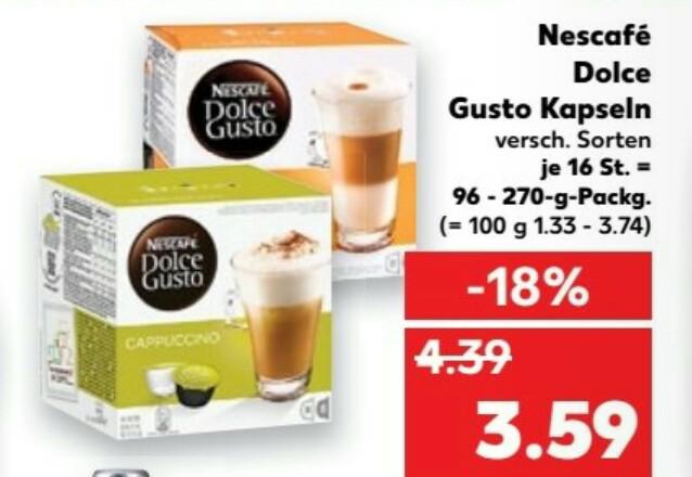 Kaufland (bundesweit)... Dolce Gusto Kapseln zu 3,59€
