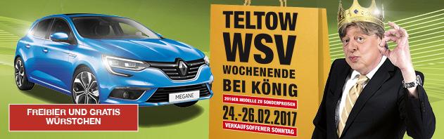Update: Teltow: Freibier, gratis Würstchen und Erbsensuppe bei Renault König