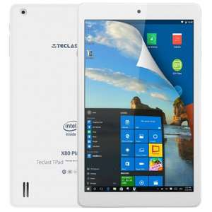 Teclast X80 PlusTablet (8'' FHD IPS, x5-Z8350, 2GB RAM, 32GB intern, BT 4.0 + microHDMI, Android 5.1 + Windows 10) für 73,24€ [Gearbest]