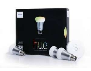 [i.norys / Allyouneed] Philips Hue LED Lampe Starter Set inklusive Bridge, 16 Mio Farben Starter Set, 3 Lampen, (Refurbished by Philips)