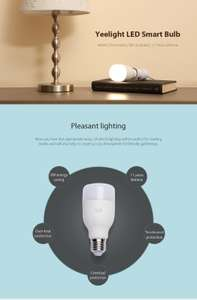Original Xiaomi Yeelight E27 Smart LED Bulb eMail only price 10,98 € (Gearbest)