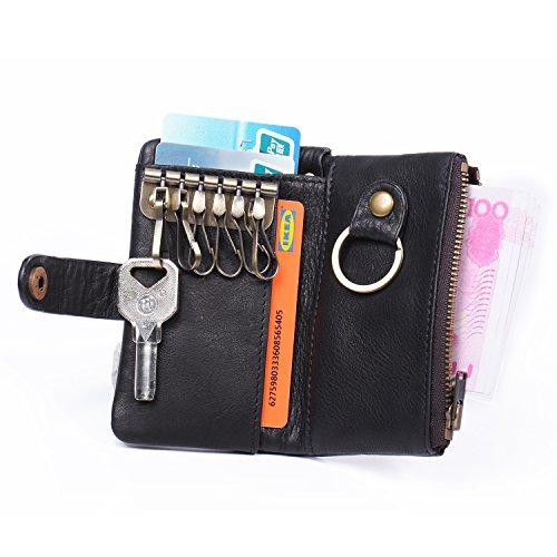 Echt Leder Schlüsseletui / Schlüsselbörse mit 3 Karten bzw Geld Fächern ab 9,99€