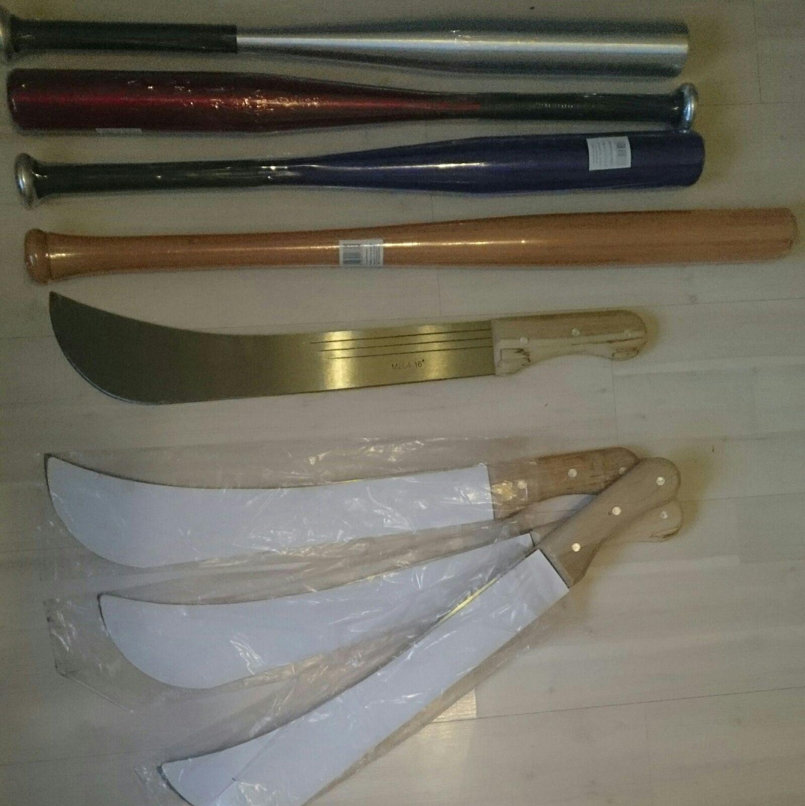 CENTERSHOP Machete 56cm für 2,99€ PVG ab 10€ und Baseballschläger Holz 71cm/Alu 63cm für 5,99€/6,99€ PVG 13€