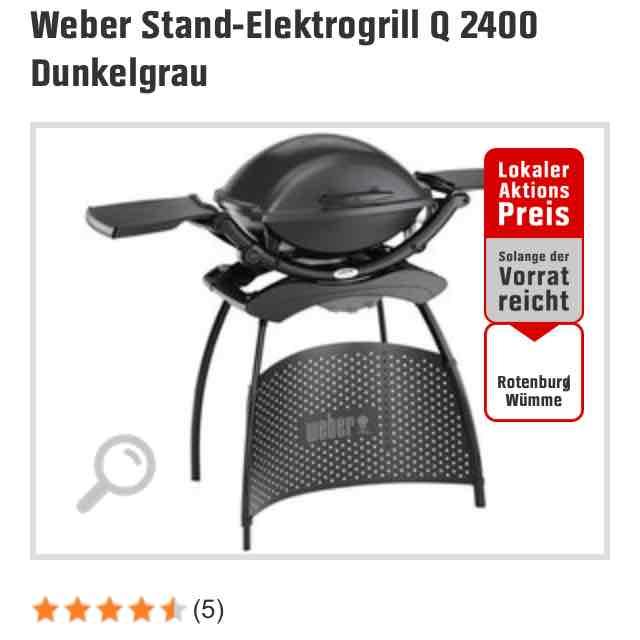 Lokal. Weber Stand-Elektrogrill Q 2400 Dunkelgrau 199 Euro