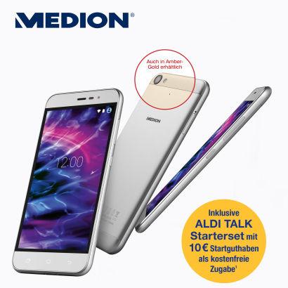 "Smartphone Medion E5006 LTE / 5"" /Alu /16Gb/Quad Prozessor ab 23.02. bei Aldi Nord"