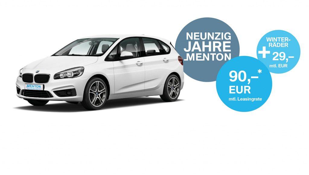 90 Jahre Autohaus Menton BMW 2er ab 90 Euro