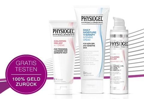 Gratis ein PHYSIOGEL Produkt für empfindliche Haut testen
