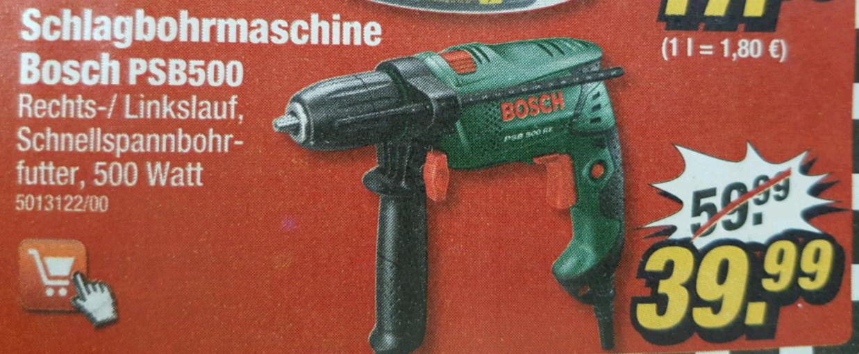[Poco] Bosch Schlagbohrmaschine PSB500