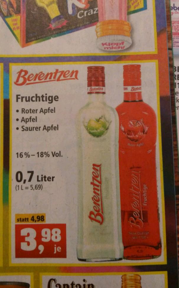 Berentzen Fruchtige 3,98€ bei Thomas Philips