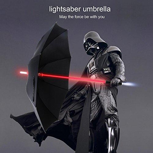 Regenschirm mit siebenfarbigem LED-Lichtschwert