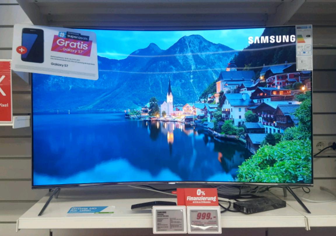 [Lokal Media Markt Paderborn] Samsung UE49KS7590 + Samsung Galaxy S7 + HD+/Zattoo HD oder DVB-T2 6 Monate