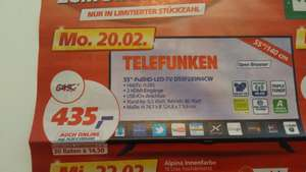 Telefunken D55F289N4CW bei Real für 435€