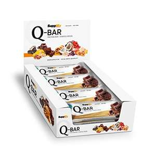 Protein Eiweiß Riegel Low Carb Q-Bar Whey Isolat Fitness Snack Von Supplify – Box 12x60g Sport Energie Riegel 15,94 € statt 22,78 € [Amazon.de - kostenloser Primeversand]