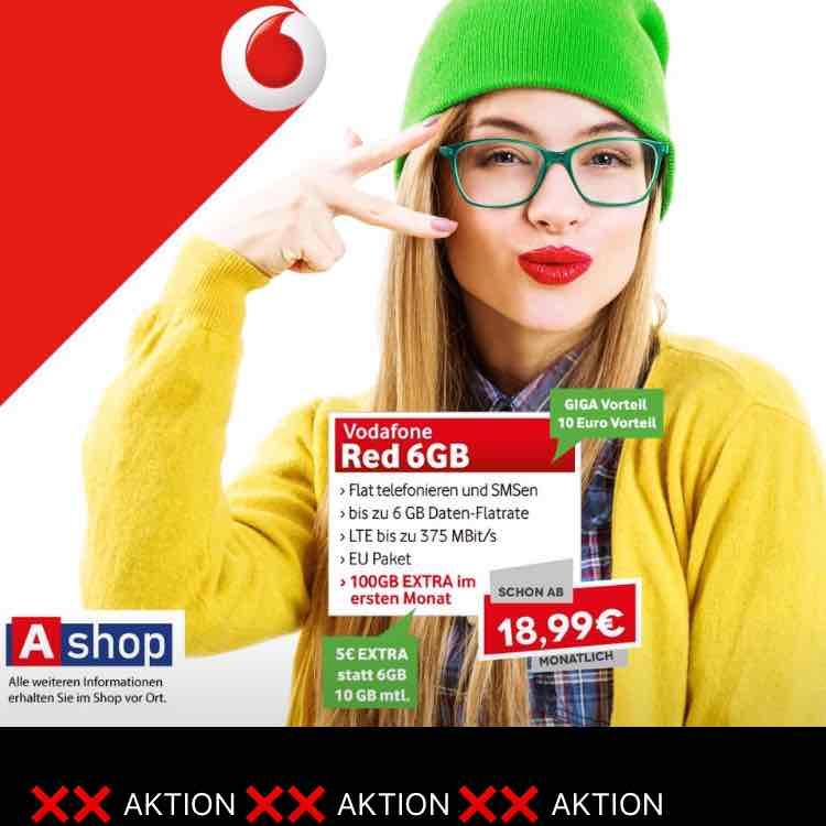 Vodafone Red mit 6 oder 10 GB ab 19€ (Lokal aber via eMail)