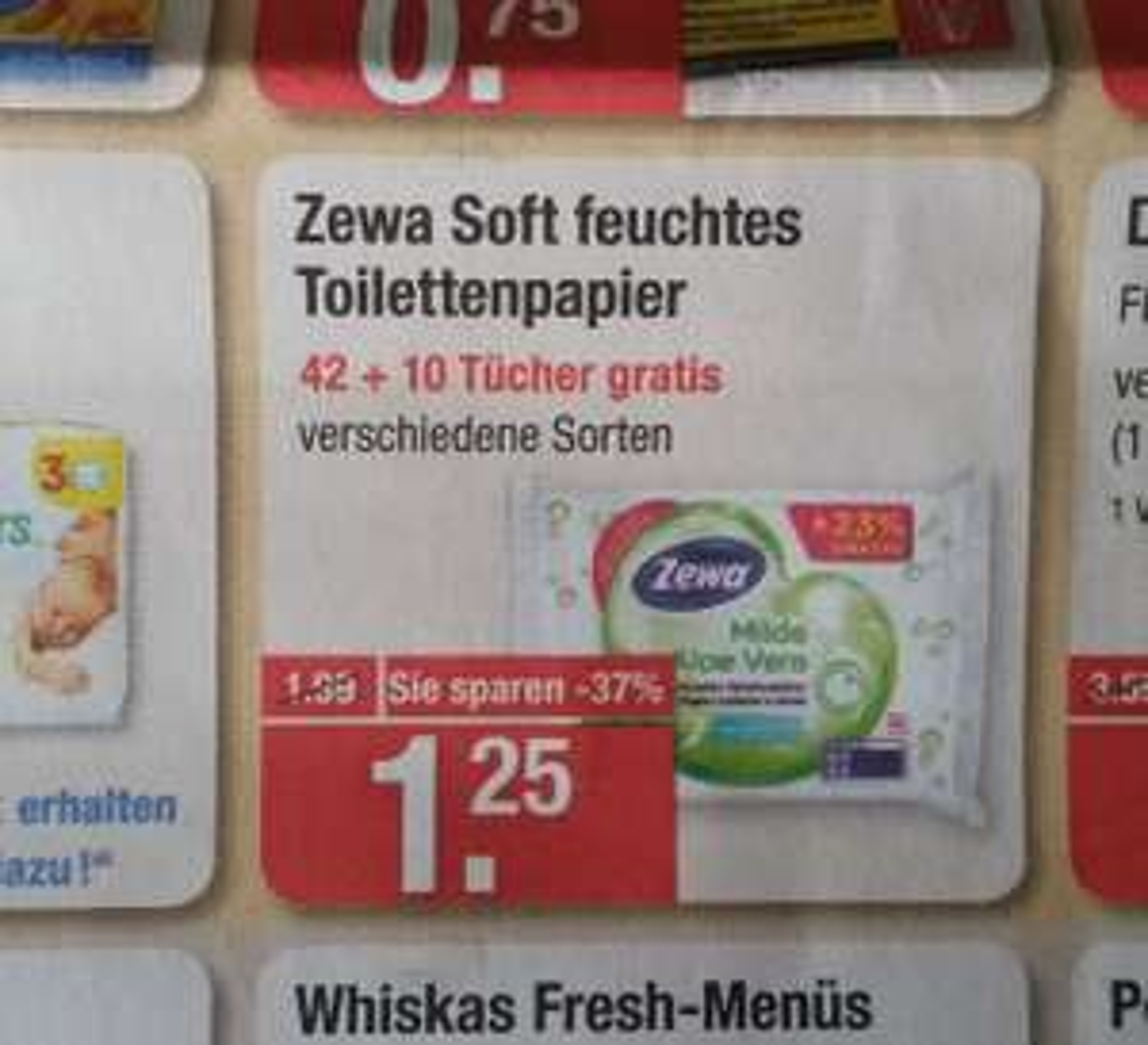 V-markt Zewa feuchtes Toilettenpapier für 0,25€ (Angebot+Coupies)