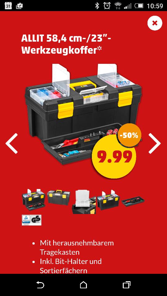 Werkzeugbox allit promo 23 für 9,99€ Penny