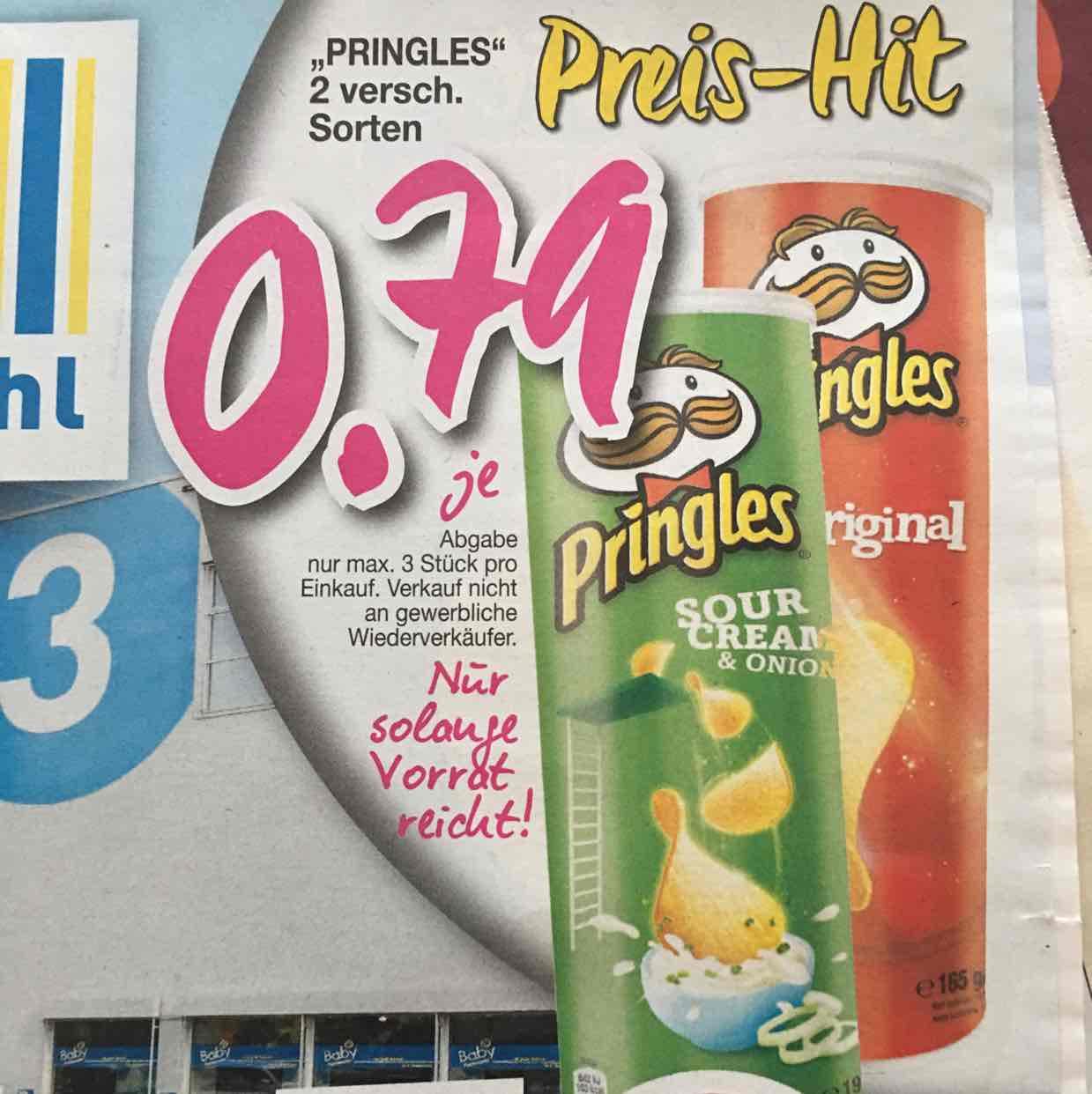 Pringles, SourCream od. Original,79 cent! Lokal Fulda ab 20.02.17