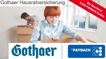 [Payback] Gothaer zB Hausrat-Versicherung für eff. -6,77 Eur jährlich