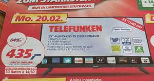 real,- Telefunken, Full HD LED TV 140cm (55 Zoll), D55F289N4CW, Triple Tuner