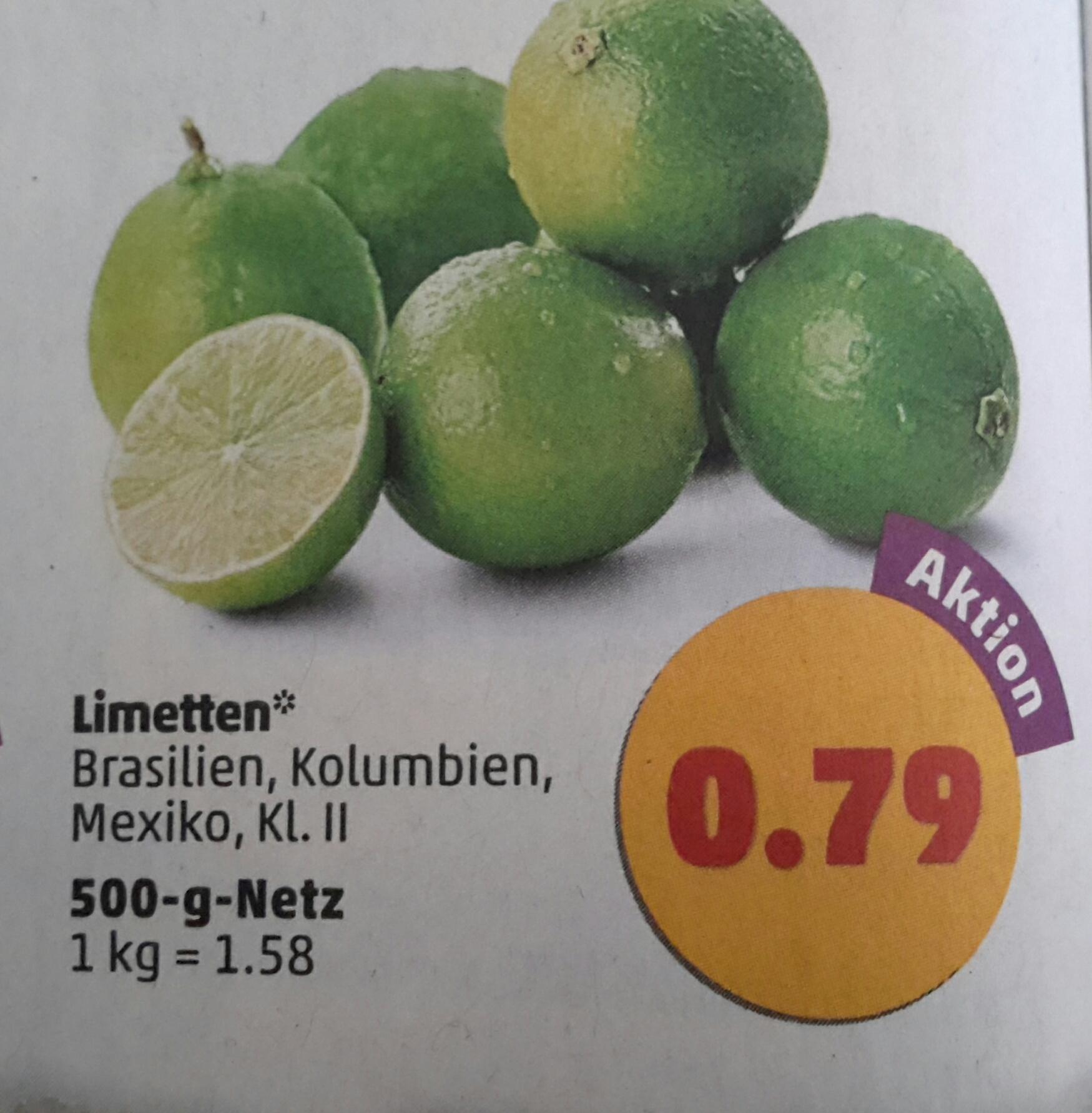 [Penny] 500g Limetten für 0,79 € ab 20.02.17