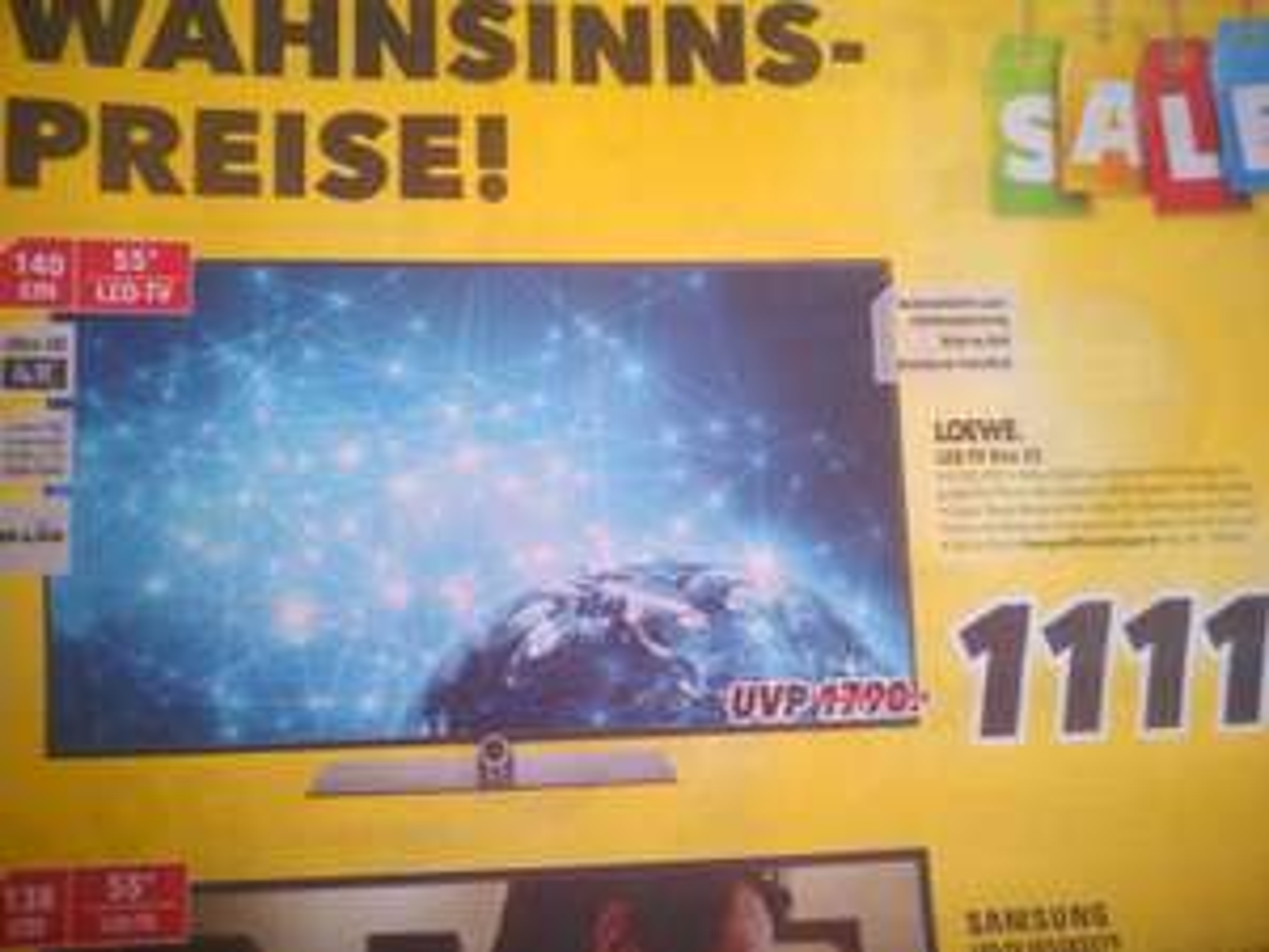 (Lokal) Medimax Fürstenau Loewe Led-Tv One 55 für 1111€ statt 1590€