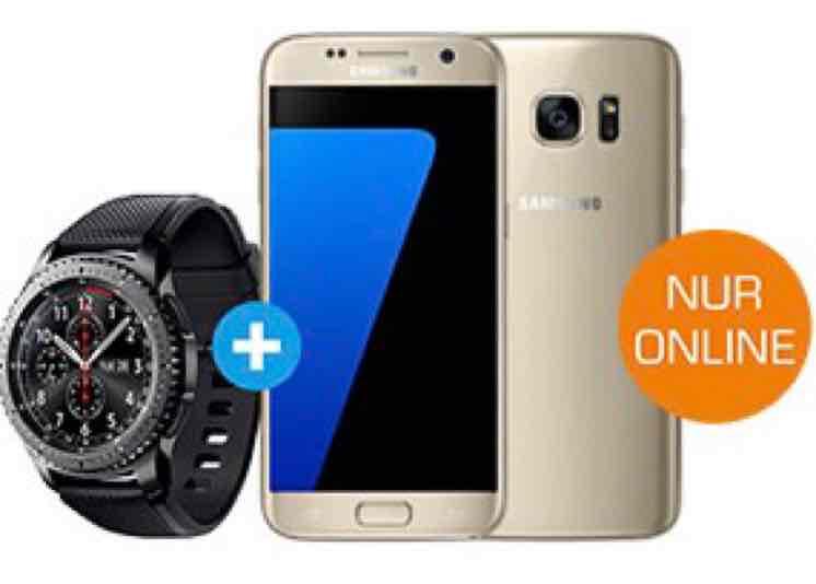 Samsung Galaxy S7 + Samsung Gear S3 für einmalig 79€ im Vodafone Tarif mit 2GB Datenflat + Telefonieflat für 29,99€/Monat