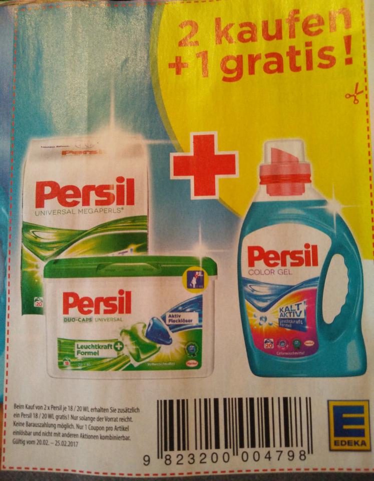 [Edeka Nord] Persil Waschmittel 3 für 2 - Perls/Gel/Caps/Tabs