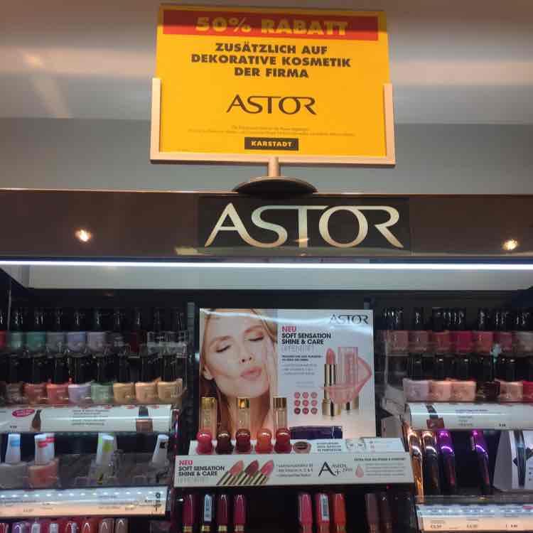 [lokal Berlin] Karstadt Boulevard 50% auf alle ASTOR Cosmetics und 30% auf Maybelline, MaxFactor und L'Oreal
