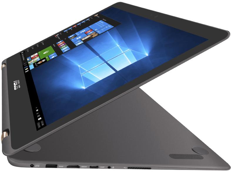 Asus Zenbook Flip UX360UAK Convertible (13,3'' FHD IPS Touch matt, i5-7200U, 8GB RAM, 256GB SSD M.2, USB Typ-C, Wlan ac, 1,3kg, 12h Laufzeit, bel. Tastatur, Win 10) für 777€ [Mediamarkt]