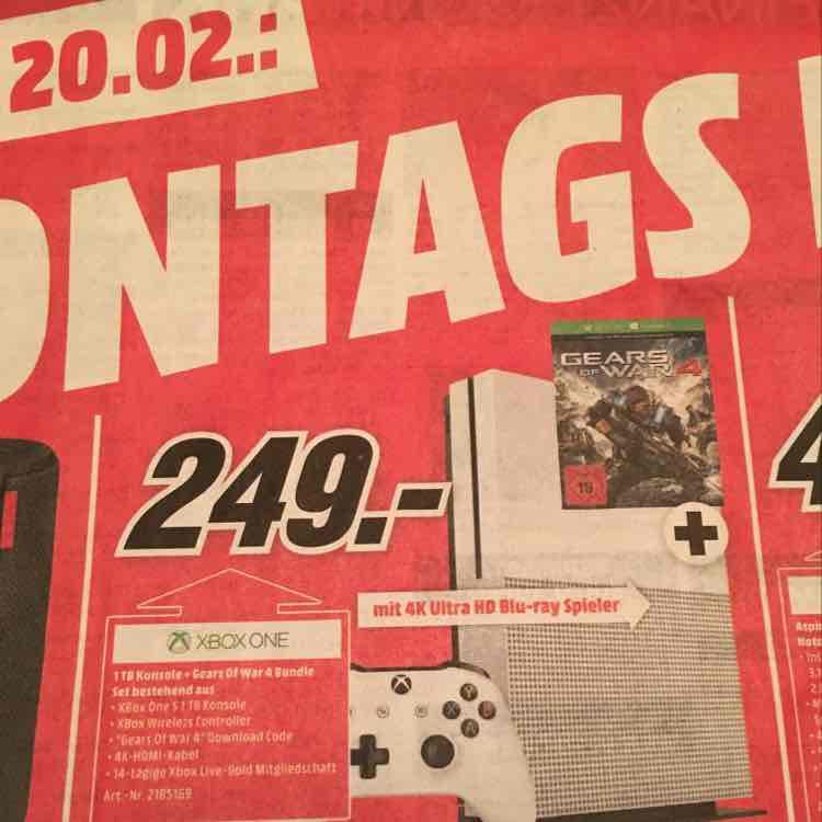 [Lokal MM Heilbronn] Xbox One S 1TB + Gears of War 4 Bundle