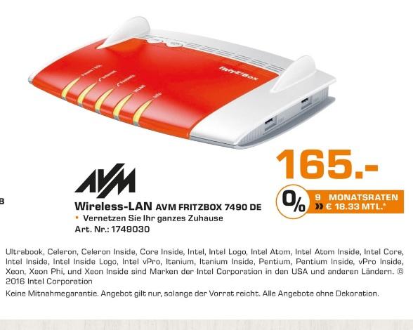 (Lokal) AVM FRITZ!Box 7490 @ Saturn Aachen