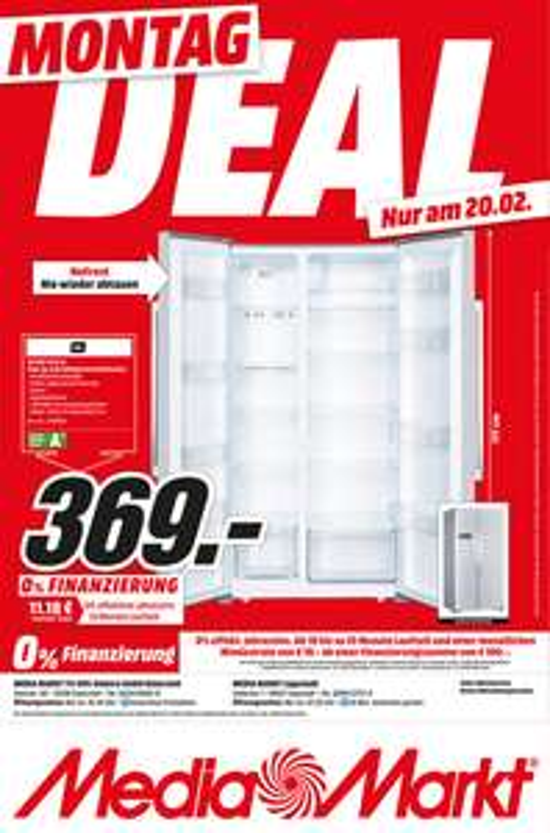 [Lokal - Mediamarkt Gütersloh und Lippstadt] Tagesangebot am 20.2 OK. ODD 12112 A1 Side-by-Side Kühlgefrierkombination (409 kWh/Jahr, A+, 1770 mm hoch, Edelstahl) für 369€