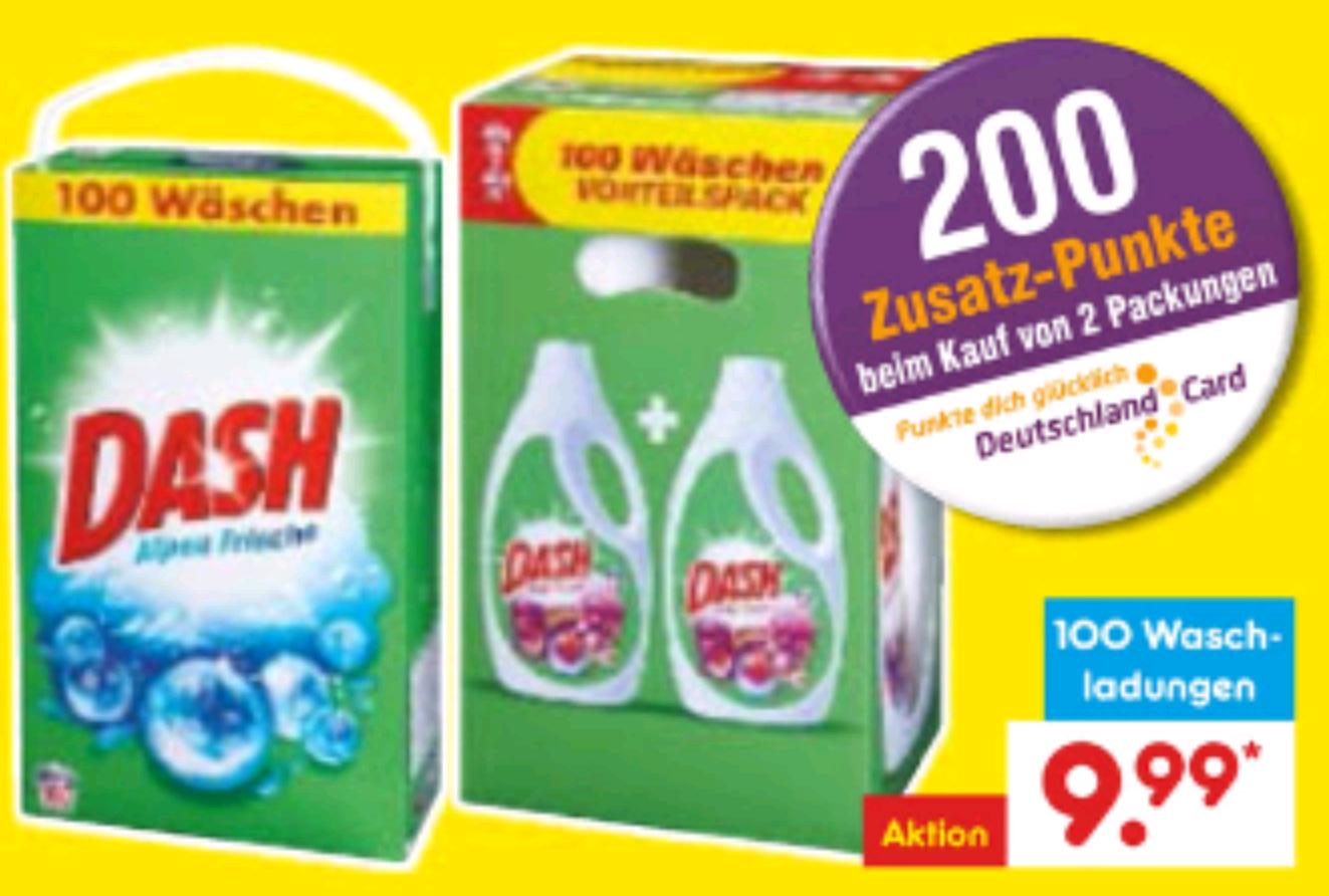 [BW] roter Netto XXL Dash Vollwaschmittel 100 WL
