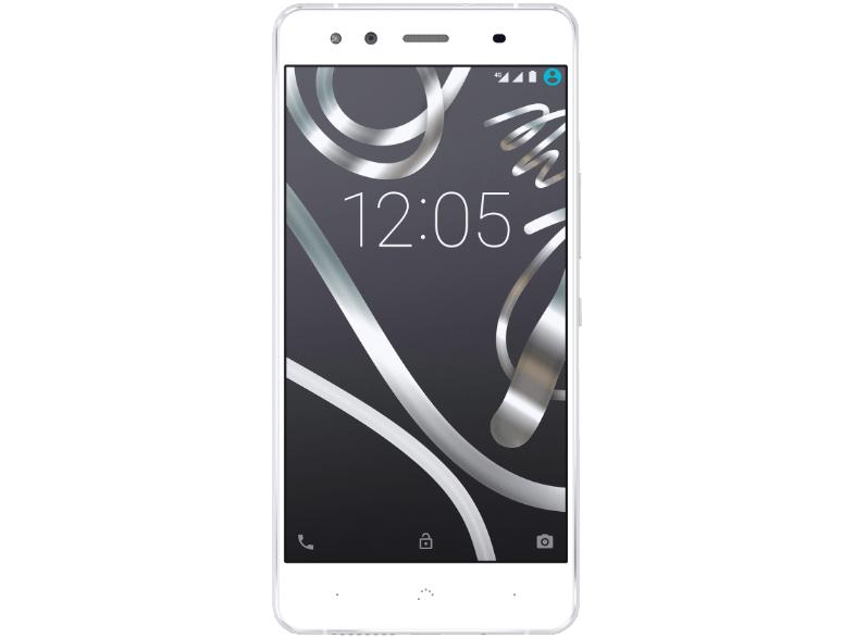 Saturn / EbayShop    BQ Aquaris X5, Smartphone, 16 GB, 5 Zoll, Weiß/Silber, LTE , Dual SIM