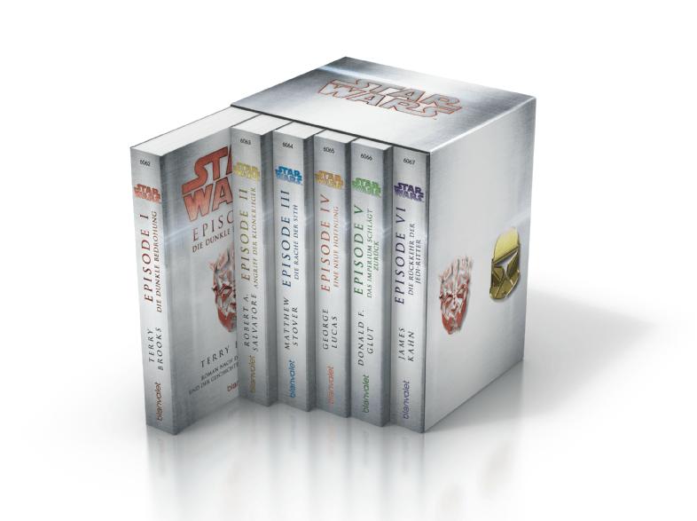 Star Wars Episoden 1- 6 Taschenbücher für 19,99 € @ Saturn.De (Versandkostenfrei)