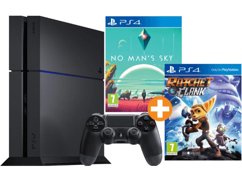 SONY PlayStation 4 1 TB Schwarz Neu CUH-1200 inklusive No Mans Sky + Ratchet & Clank für 255€ [saturn.at]