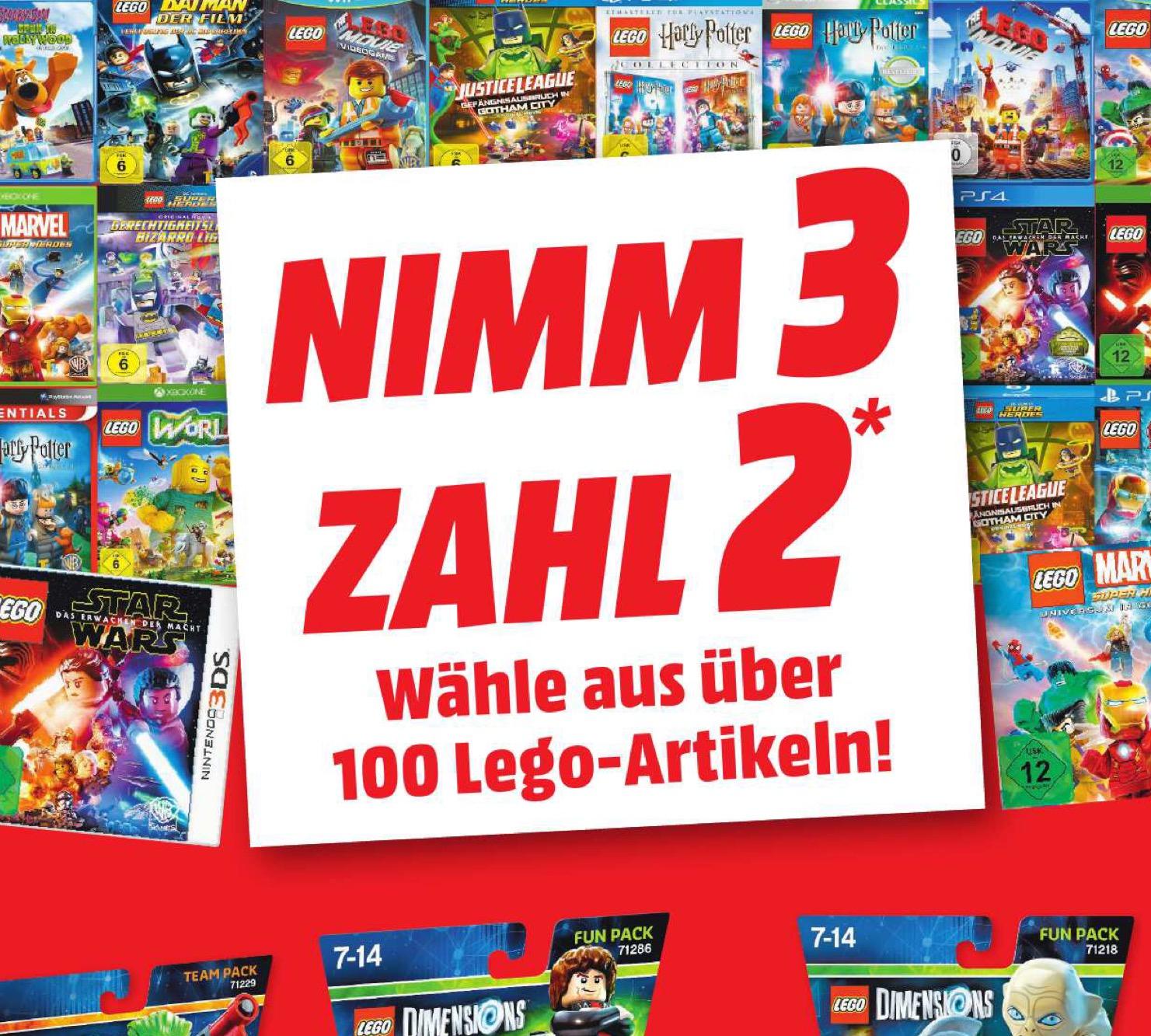 [Media Markt] lokal - Lego Filme, Spiele und Lego Dimensions 3:2 Aktion