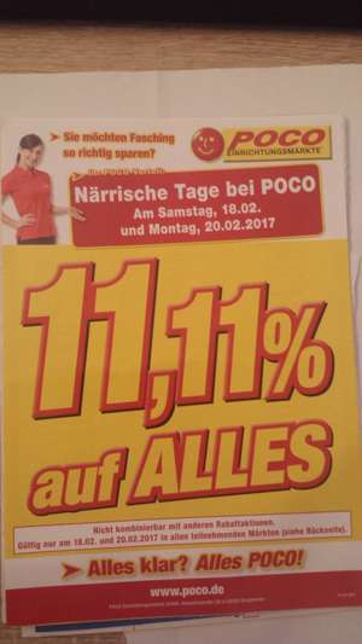 [Lokal] Poco - Närrische Tage bei Poco - 11,11% auf ALLES