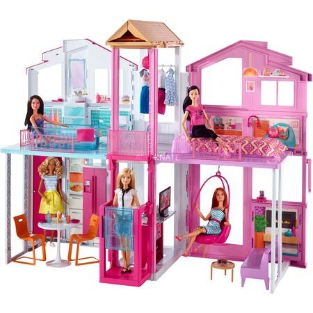[ZackZack] Mattel - Barbie Stadthaus mit 3 Etagen für 75 € statt 90 €