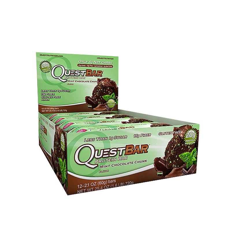 [net-fit] Quest Bar in Chocolate Mint für 9,99€ + 6,50€ VSK, ab 50€ VSK-frei