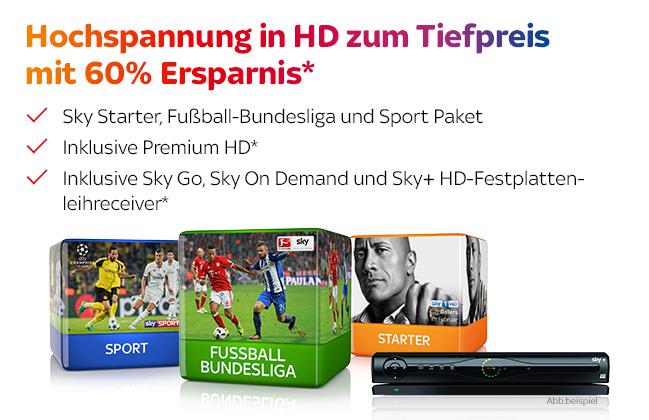 SKY Bundesliga HD Abo für 19,99€ mtl.