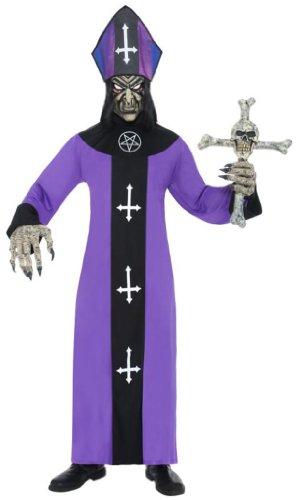 Last minute Kostüm: satanischer Bischof mit Talar, Mütze, Maske und Handschuhen Größe L [Amazon Marketplace] - ab Donnerstag beginnt der Straßenkarneval