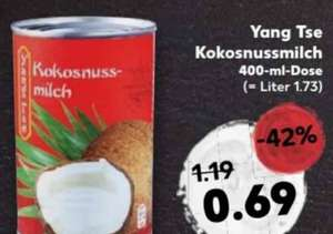 Kokosnussmilch Yang Tse 400ml-Dose bei Kaufland Hannover ab 23.02.17