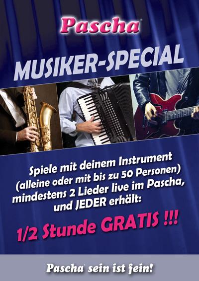 Musiker Special im Pascha Köln,