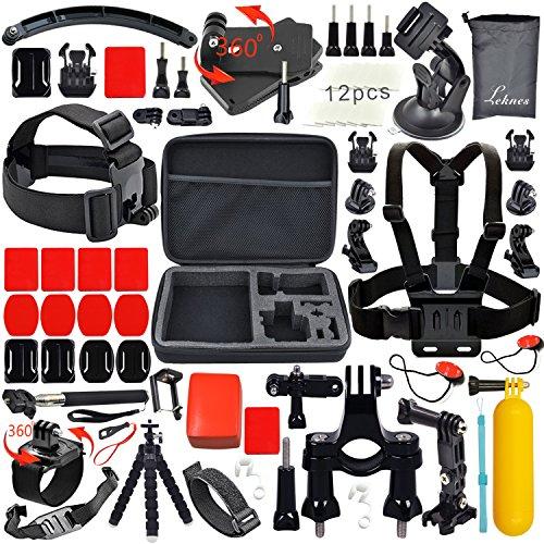 Leknes Basis Zubehör Bundle Set für Action Kamera sj4000 sj5000 und GOPRO HERO 4 3+ 3 2 1 als AMAZON Blitzangebot