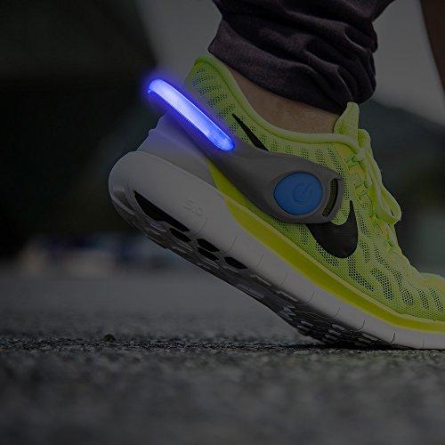 2er Set - Blaue LED Schuhclip / Reflektor (Plus Produkt)