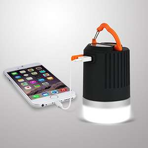 Amazon - Wasserdichte (IP65) LED-Campinglampe Laterne mit 8800mAh Powerbank für 19,99€