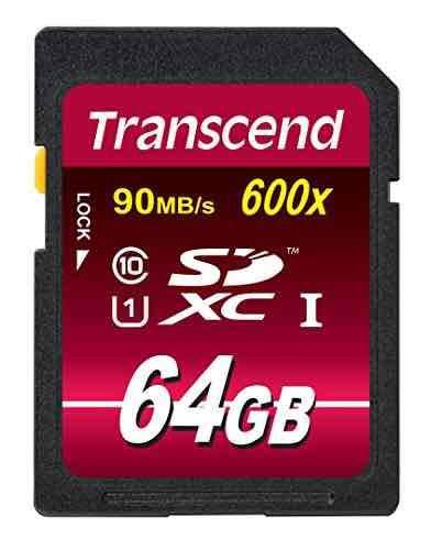 [Amazon] Transcend Ultimate-Speed SDXC Class 10 UHS-1 64GB Speicherkarte (bis 90MB/s Lesen) für 26,50€